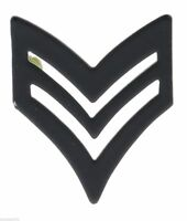 Army SGT. Stripes Black Rank Hat or Lapel Pin H14887D2
