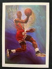 1990-91 Hoops Chicago Bulls Checklist #358,  MICHAEL JORDAN Illustration, GOAT!