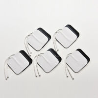 20 Replacement Pads for Massagers/Tens Units Electrode Pads White Cloth 5x5cm UK