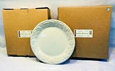 Set of 4 Longaberger Pottery Vintage Vine Dinner Plates Cream New