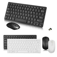 New Protable Wireless Keyboard And Mouse Set Simple Combo 2.4Ghz For Laptop Mac