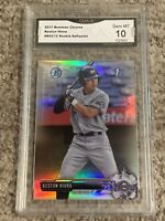 2017 BOWMAN CHROME REFRACTOR KESTON HIURA BREWERS GMA 10