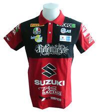 NEW SUZUKI RAC MOTORCYCLE SPORT RACING TEAM BIKER RED POLO SHORT T-Shirt Sz M