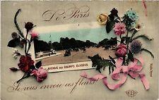 CPA Je vous envoie ces fleurs de Paris 8e - Av de Champs Elysées (301764)