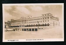 Australia ADELAIDE Railway Station Rose Series c1930s? RP PPC Rose Stereograph
