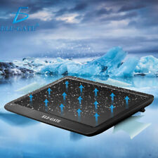 """Laptop Quiet Cooler Cooling Pad Mat Fan USB Stand For 14"""" Or Below Notebook UK"""