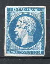 "FRANCE STAMP TIMBRE 14 Aa "" NAPOLEON III 20c BLEU FONCE "" NEUF (x) TB  P710"
