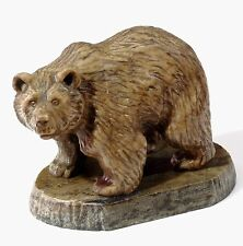"""Calcite Bear Hand Carved Figurine Natural Stone Sculpture Animal Statue 4.3"""""""
