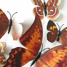 12/24 PCS 3D Butterfly Sticker Art Design Decal Wall Stickers Home Decor Room