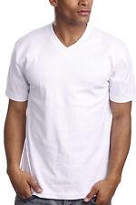 New Pro 5 V-Neck Plain T Shirts Basic Tee, Short Sleeve, Solid Color Sales $4.99