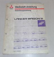 Workshop Manual Mitsubishi Lancer Wagon Electric Schematics Model Year 1989