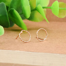 Charm Gold Silver Round Big Hoop Huggie Loop Dangle Earrings Ear Studs Jewelry