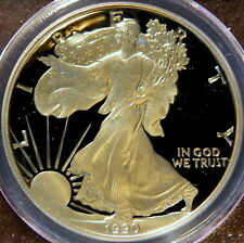 1990 S PROOF SILVER EAGLE,  PCGS PF 69 DCAM