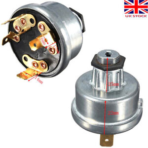 4 Position Tractor Ignition Switch Keys For Lucas 35670 128SA Durite 0-351-06 UK