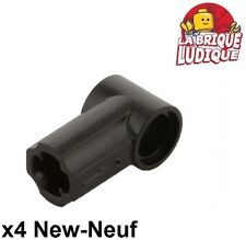 Lego technic - 4x Axe Axle pin connector angled #1 noir/black 32013 NEUF