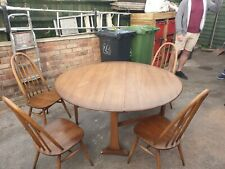 2cdf26077dcfe Ercol drop leaf dining table and four chairs