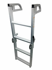 Pactrade Marine Pontoon Boat Folding Boarding 4-step Ladder Aluminum