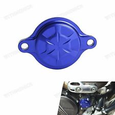 Blue Billet CNC Oil Filter Cover For Yamaha YZ250F 2014-2017  YZ450F 2010-2017