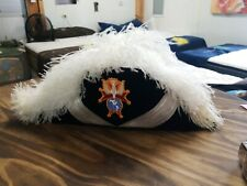 Vintage Knights of Columbus K C Ostrich Plume Feather Chapeau Hat (A)