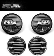 Extreme Black LED Headlight+Turn Signal+Running Light for 07-18 Jeep JK Wrangler