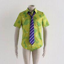 Hombres Adultos Traje De Zootopia Fox Nick Wilde Cosplay Uniforme De La Camisa