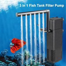 UK Small Internal Aquarium Filter Water Pump Spray Air Tube Fish Tank Filtration