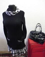 Markenlose karierte Langarm Damenkleider für die Freizeit