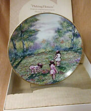 Vintage 'Picking Flowers' Dominic John Mingolla-1977-Calhoun 9;s Collector Plate