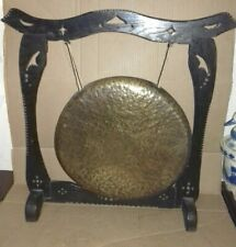 More details for vintage wood and brass dinner gong