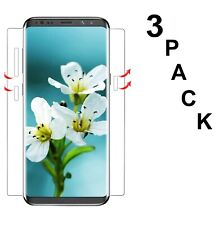 Samsung Galaxy S8 Screen Protector Case Friendly Full Edge Ultra HD Slim 3 PACK