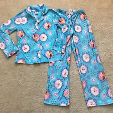 Disney FROZEN Child Pajamas Set Girls Size 10 Blue Princess Queen Elsa Top Pants