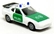 Herpa 4099 Porsche 944 Autobahn Polizei neutral weiß grün B9 284 1:87 H0