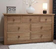 Kingston solid modern oak bedroom furniture large chest of drawers