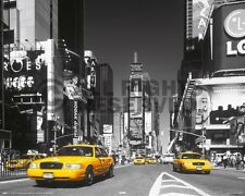 New York City Times Square, Yellow Taxi Cab. Photo Print Poster (15.75 x 19.75)