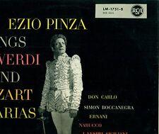 """EZIO PINZA SINGS VERDI AND MOZART ARIAS DON CARLO ERNANI NABUCCO 12"""" LP (L5354)"""