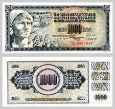 Jugoslawien / Yugoslavia 1000 Dinara 1981 p92d unz.