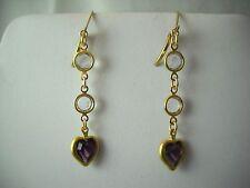 "Swarovski Vintage & New Crystal & 14k GF Dangle Pierced Earrings 1.75"" NWOT"