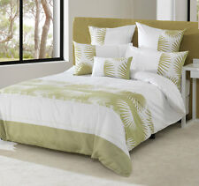 Bianca SAINSBURY Pistachio Green King Size Bed Doona Duvet Quilt Cover Set