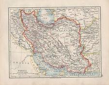 1909 VICTORIAN MAP ~ PERSIA ~ KHORASAN FARSISTAN KERMAN AZERBIJAN