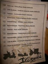 Riding Mower 40560x50A TROMECA : catalogue pièces 1998