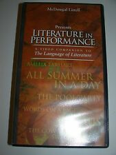 Literature In Performance VHS Amelia Earhart Icarus Cow Tail Switch Pool Party