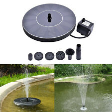 Floating Solar Powered Water Fountain Garden Pump Pond for Bird Bath Tank Pool