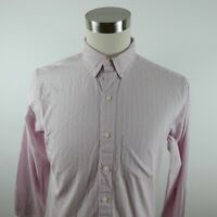 Brooks Brothers Mens Slim Fit LS Button Up Red White Blue Striped Shirt 15.5-33