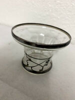 Art Glass Vintage With Silver Paint Vase