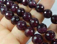 "Dark Red 6mm Garnet Gems Faceted Round Loose Beads 15"" Strand  JL102"
