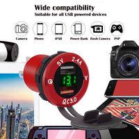 2in1 Car Fast Charger Socket Dual USB Port Volt Display 12-24V Phone charger UK