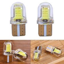 2x T10 168 W5W 12v COB 8SMD LED CANBUS Silica Bright White License Light Bulb