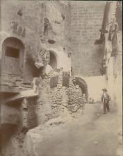 Espagne, Buñol, Une rue et ses habitants, 1908, Vintage citrate print Vintage ci