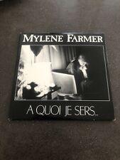 Mylene Farmer : Single A Quoi Je Sers De 1989 / Excellent Etat
