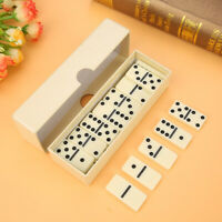 Dominoes 28 Wooden Box Instructions Play Game Kids Toy Practice Plastic Ivory